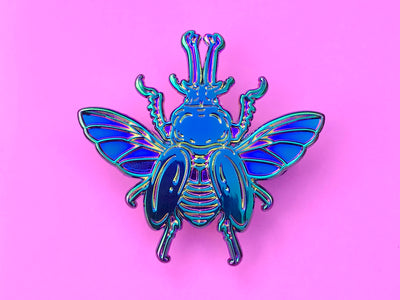 Rainbow Stag Beetle Pin