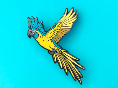 Jinx The Blue Throated Macaw Hard Enamel Pin