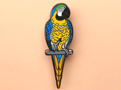 Sunny The Blue and Gold Macaw Hard Enamel Pin