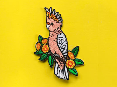 Major Mitchell's Cockatoo Embroided Iron on Patch
