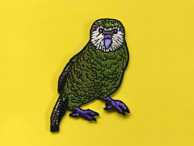 Kakapo Embroidered Iron on Patch