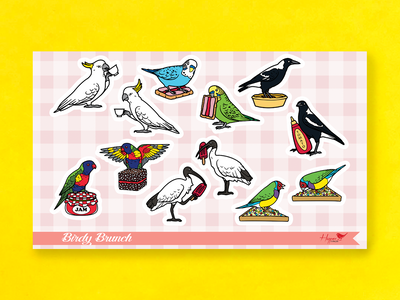 Birdy Brunch Vinyl Sticker Sheet