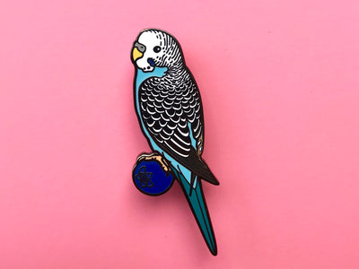 Blueberry The Budgerigar Hard Enamel Pin
