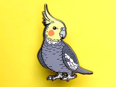 Cockatiel (Grey) Hard Enamel Pin