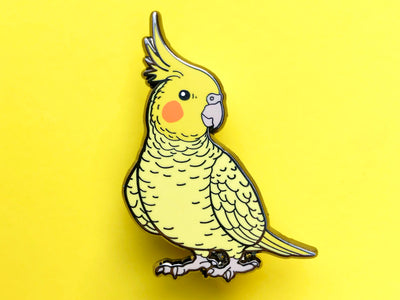Cockatiel (Lutino) Hard Enamel Pin