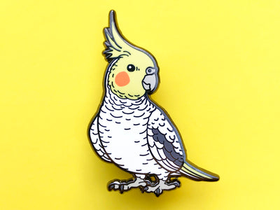 Cockatiel (Pied) Hard Enamel Pin