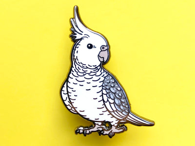 Cockatiel (Whiteface) Hard Enamel Pin