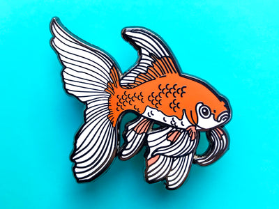 Comet Goldfish Hard Enamel Pin