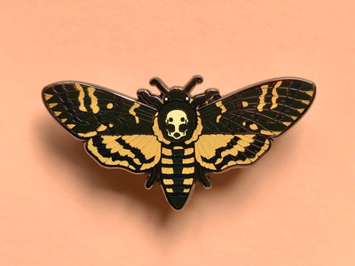 Death's-head Hawkmoth Hard Enamel Pin