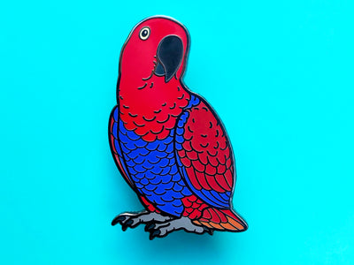 Eclectus Parrot (Female) Hard Enamel Pin