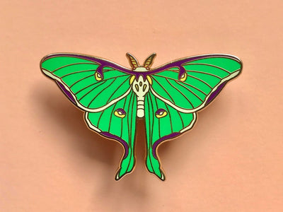 Luna Moth Hard Enamel Pin