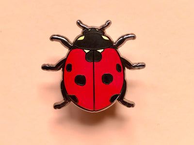 Lady Beetle Hard Enamel Pin