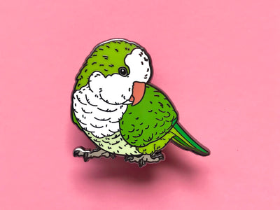 Lefty the Quaker Parrot Hard Enamel Pin