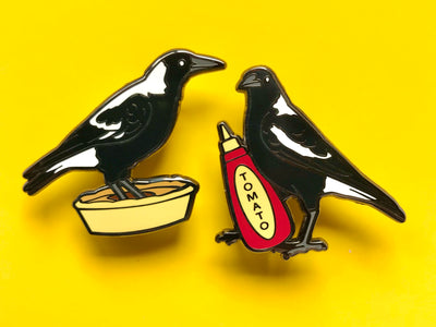 Magpie Pie Time Hard Enamel Pin Set