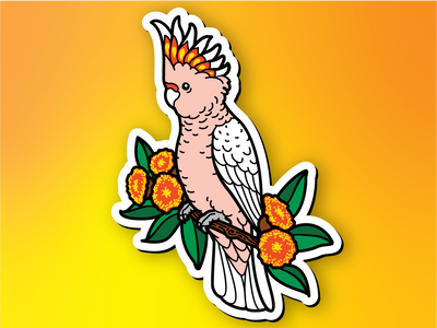 Major Mitchell's Cockatoo Magnet