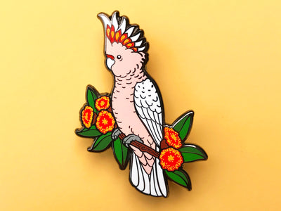 Major Mitchell's Cockatoo Hard Enamel Pin