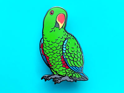 Eclectus Parrot (Male) Hard Enamel Pin