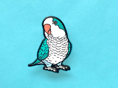 Blue Quaker Hard Enamel Pin