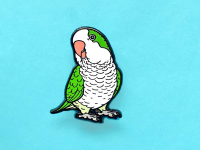 Green Quaker Hard Enamel Pin