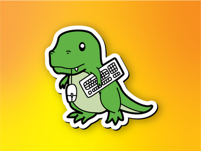 Retrosaur Computing Magnet