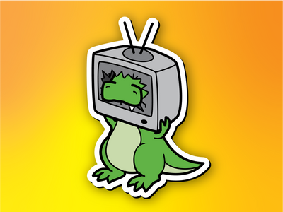 Retrosaur Televised Magnet