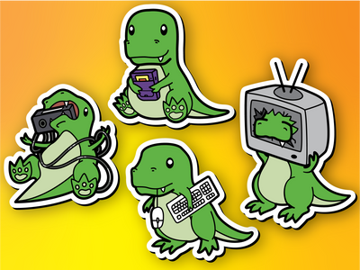 Retrosaur Magnet Set