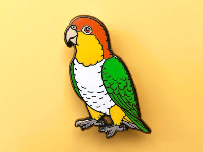 White-Bellied Caique Hard Enamel Pin