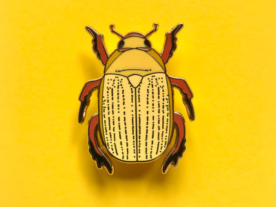 Christmas Beetle Hard Enamel Pin