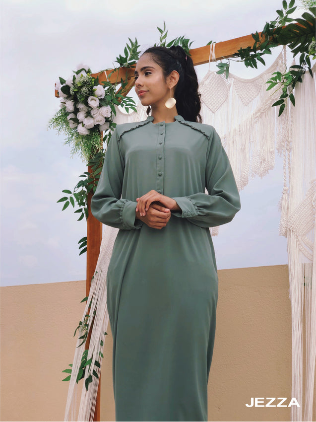 Long Sleeve Long Modest Dress - Jezza fashion