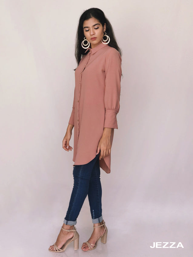 Long Above Knee Length Modest Top JUJZ29701