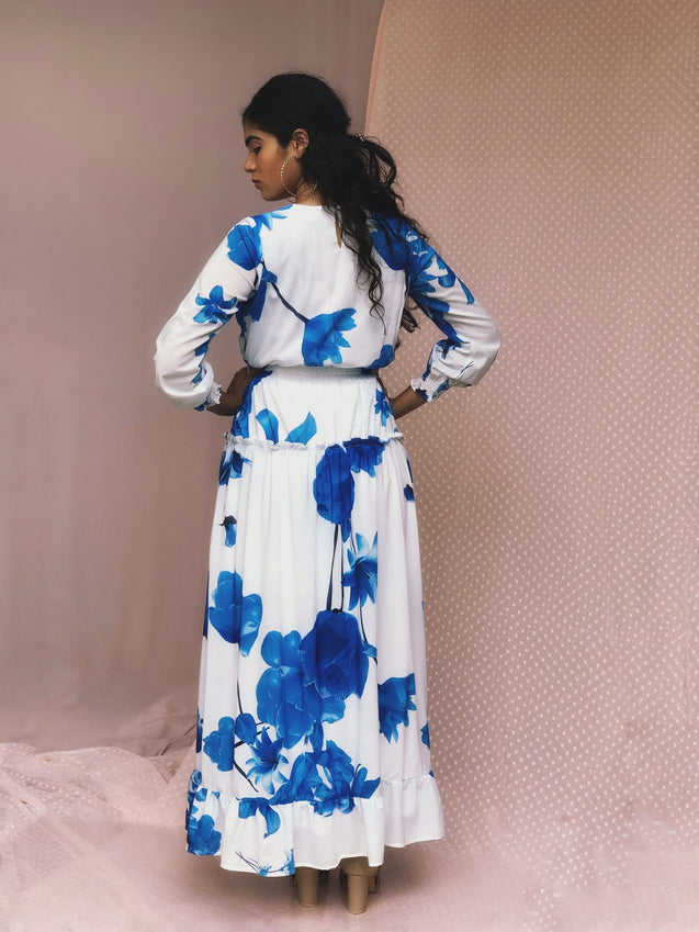 JEZZA Floral Printed Long Modest Dress MRJZ29251