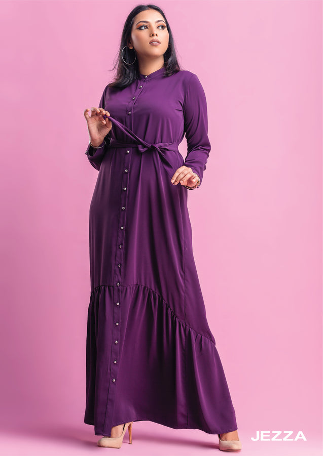 JEZZA Women's Long Sleeve Maxi Dress AUJZ30321