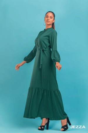 JEZZA Women's Long Sleeve Maxi Dress AUJZ30361