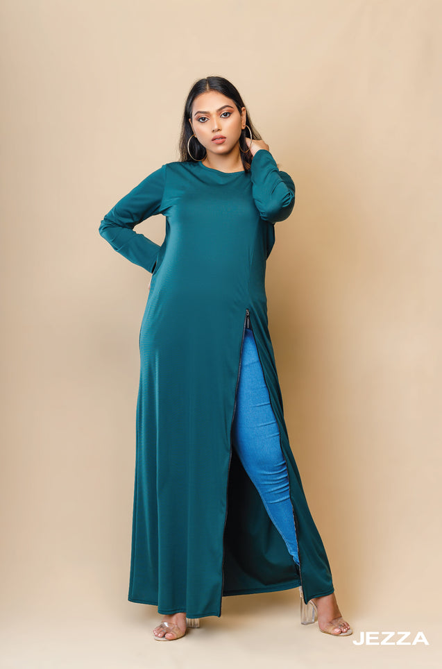 JEZZA Women's Solid Colour Long Maxi Dress  JUJZ29311