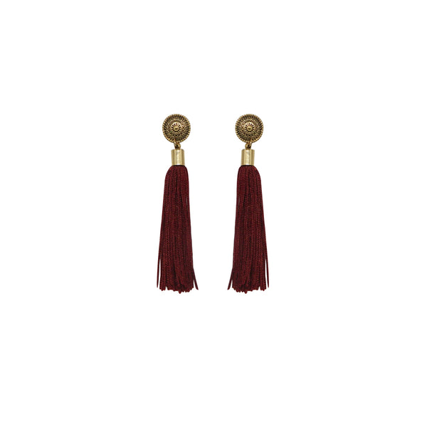 Copy of Aretes tassel largos. (4467109724202)
