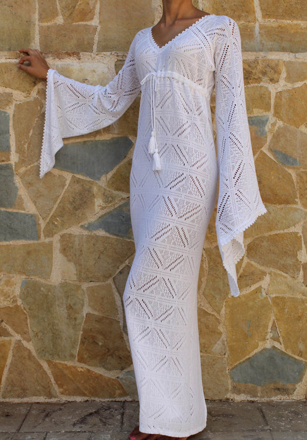 APHRODITE LACE MAXI DRESS