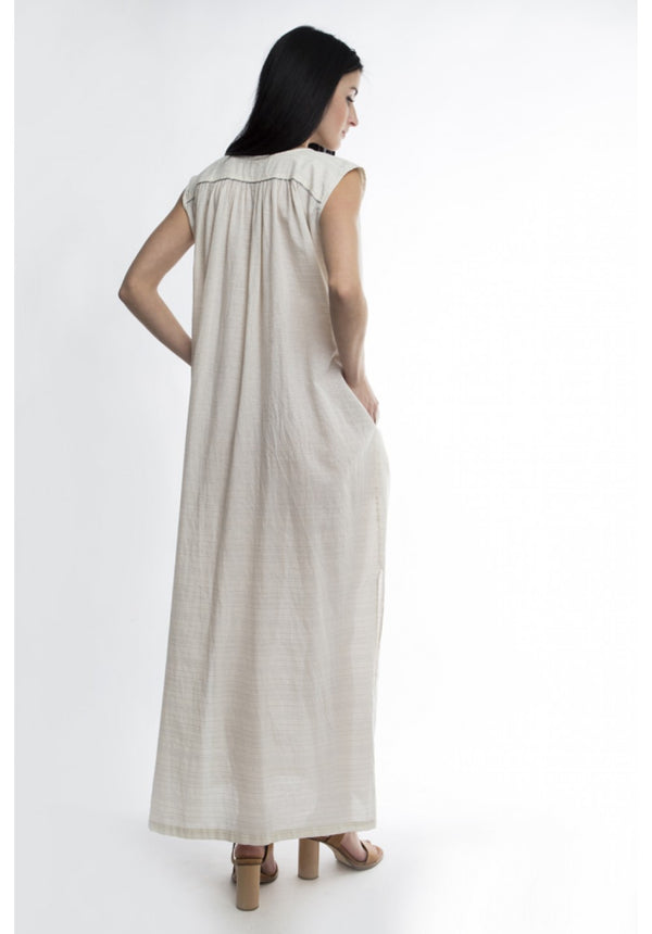 ANNA MAXI SLEEVELESS DRESS