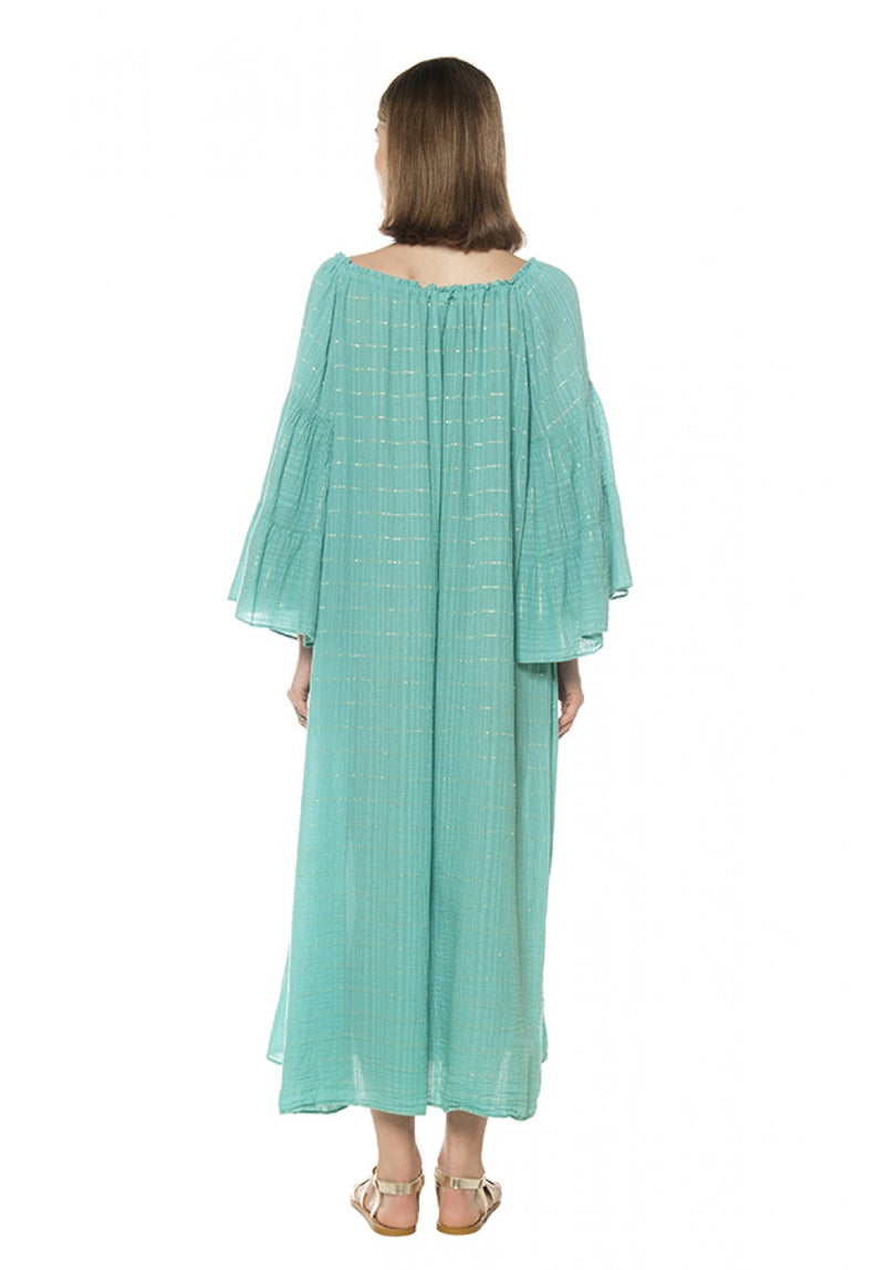 KAYA MAXI CAFTAN WITH SILVER LUREX