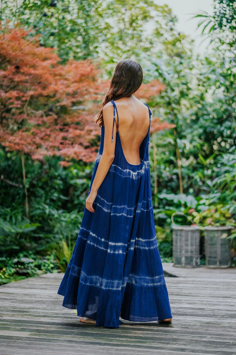 SOLACE MAXI TIE-DYE DRESS