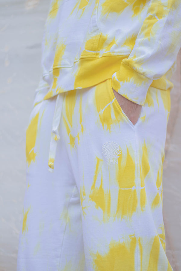 Tie-Dye Cotton Pants Yellow