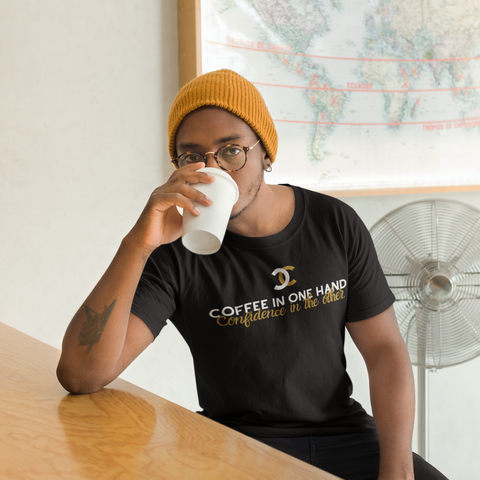 Coffee & Confidence Short-Sleeve Unisex T-Shirt