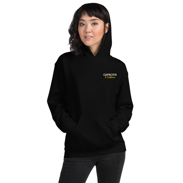 CAFECITO AND CONFIDENCE EMBROIDERED Unisex Hoodie - Cafecito & Confidence