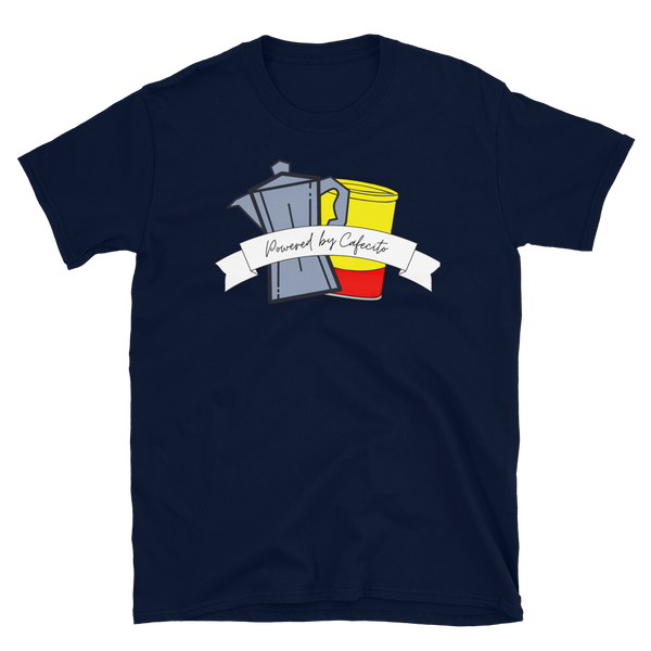 Powered By Cafecito Short-Sleeve Unisex T-Shirt - Cafecito & Confidence