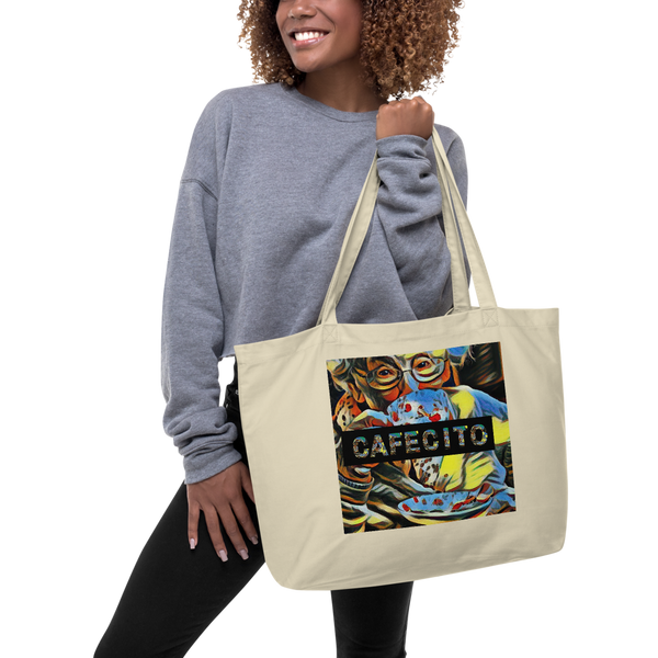 Cafecito Large Organic Tote Bag