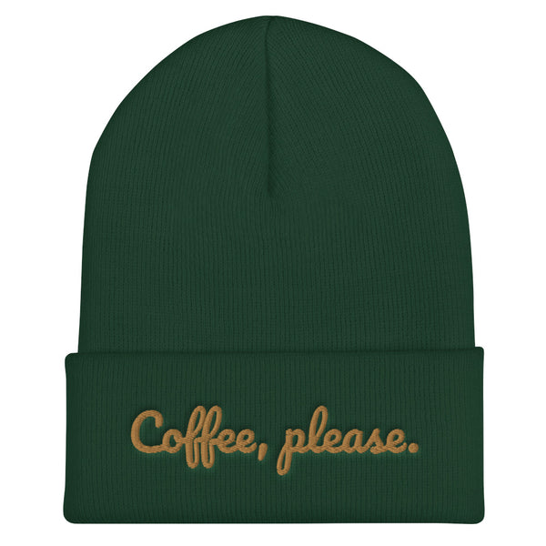 Coffee Please Cuffed Beanie