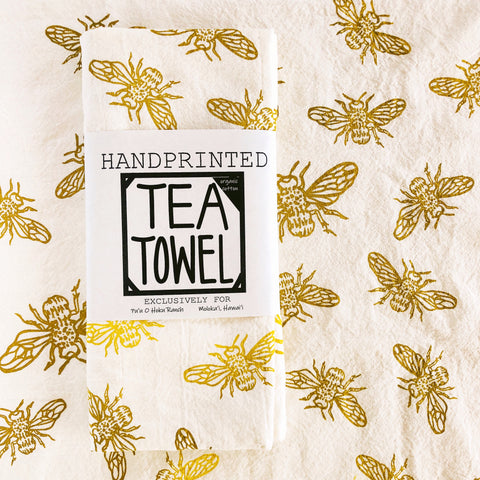 Hoku Honey Bee Tea Towel