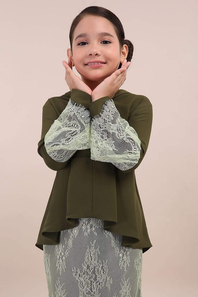 Kesuma Kids Pleated Kebaya Lace - Zoffya