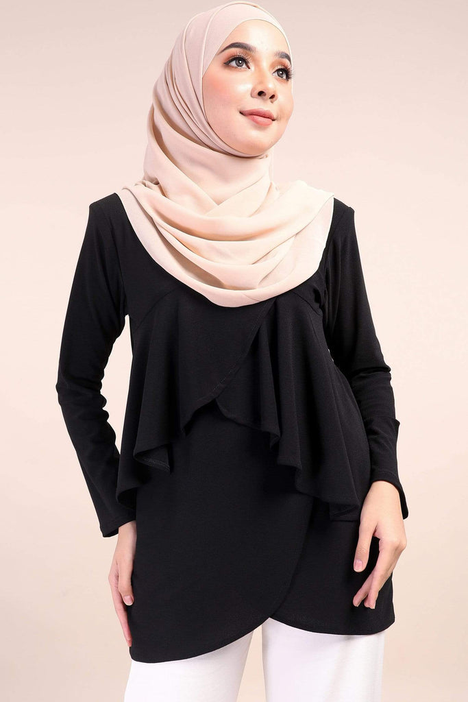 Qayla Flare Ironless Plain Blouse - Zoffya