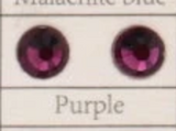 PREORDER Purple high quality crystal flatbacks