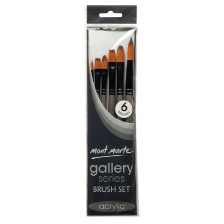 Gallery Series Brush Set Acrylic 6pc